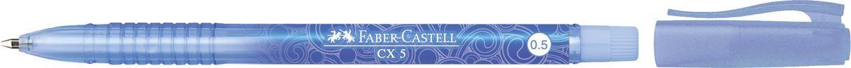Faber-Castell Ручка-роллер СX5 0,5 мм цвет чернил синий39516Ручка-роллер Faber-Castell с тонким наконечником 0,5 мм обеспечивает очень мягкое письмо. Подходит для письма в документах.Привлекательный прозрачный корпус инизковязкостные чернила (semi-gel). Эргономичнаязона захвата обеспечивает комфорт во время письма. Вентиляционный колпачок оснащен упругим клипом.