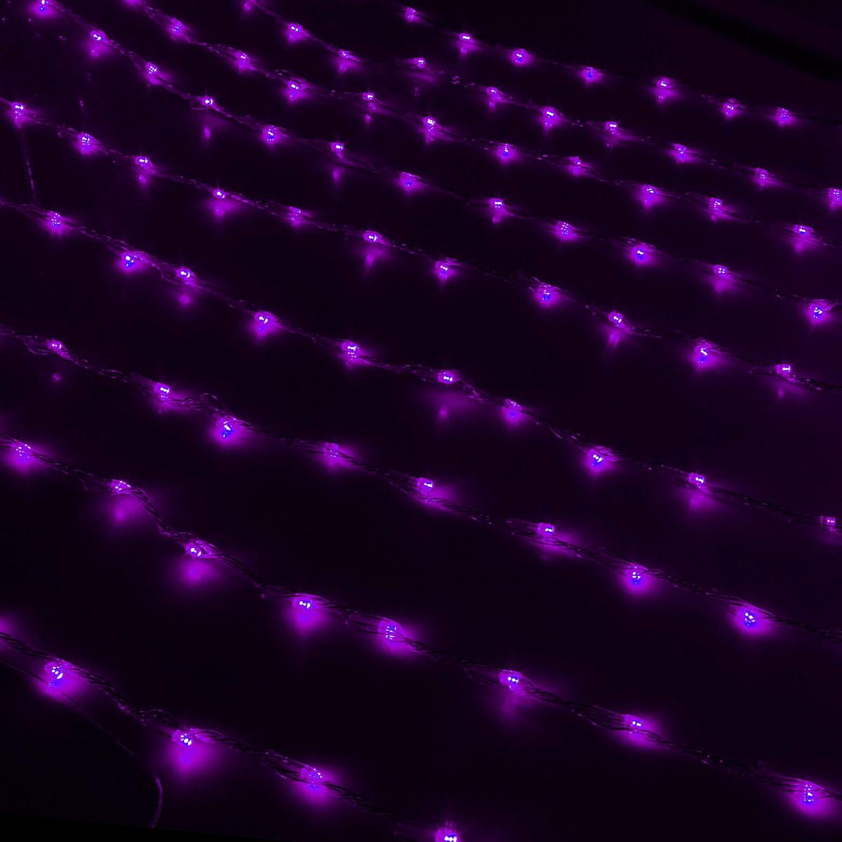Гирлянда светодиодная Luazon Дождь, уличная, 8 режимов, 1500 ламп, 220 V, цвет: фиолетовый, 2 х 6 м. 187309187309Светодиодные гирлянды, ленты и т.д — это отличный вариант для новогоднего оформления интерьера или фасада. С их помощью помещение любого размера можно превратить в праздничный зал, а внешние элементы зданий, украшенные ими, мгновенно станут напоминать очертания сказочного дворца. Такие украшения создают ауру предвкушения чуда. Деревья, фасады, витрины, окна и арки будто специально созданы, чтобы вы украсили их светящимися нитями.