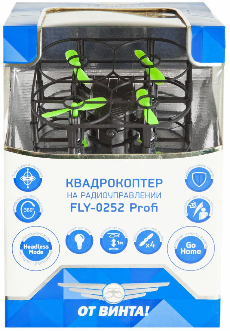 От винта! Квадрокоптер на радиоуправлении цвет черный салатовый - Радиоуправляемые игрушки