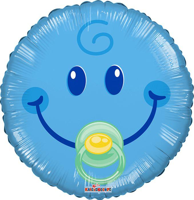 Конвер Шарик воздушный Смайл Малыш цвет голубой кацапка смайл неожиданное чудо