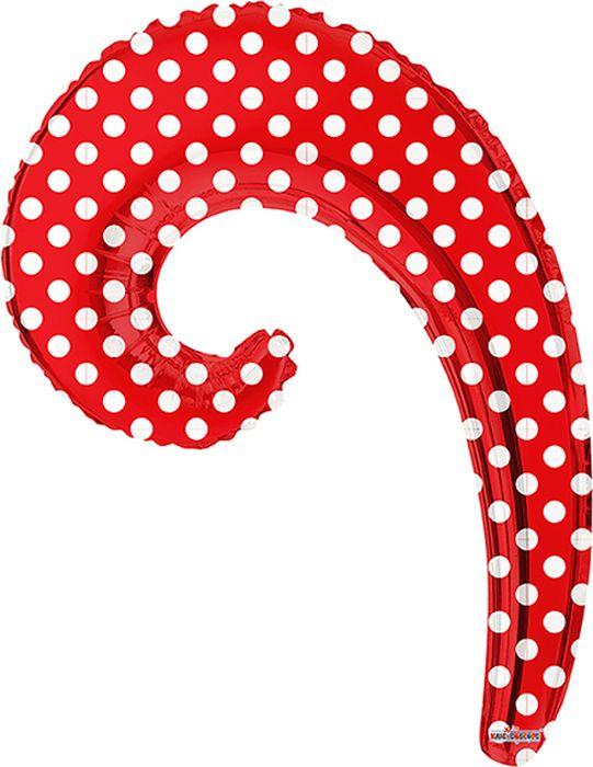 Конвер Шарик воздушный Волна цвет красный в горошек -  Воздушные шарики