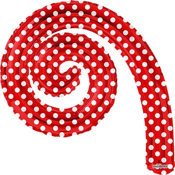 Конвер Шарик воздушный Спираль цвет красный в горошек -  Воздушные шарики