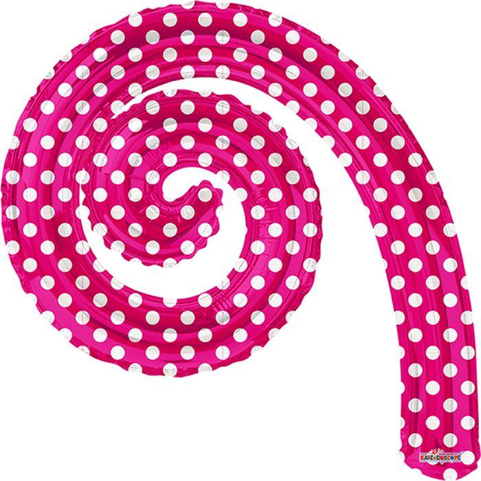 Конвер Шарик воздушный Спираль цвет розовый в горошек -  Воздушные шарики