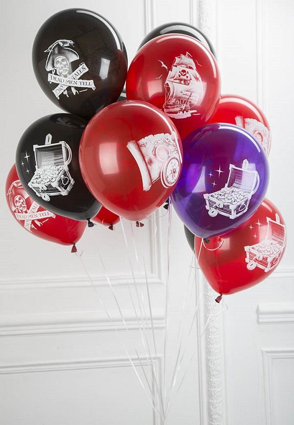 Latex Occidental Набор воздушных шаров с лентами Пиратская вечеринка 30 шт