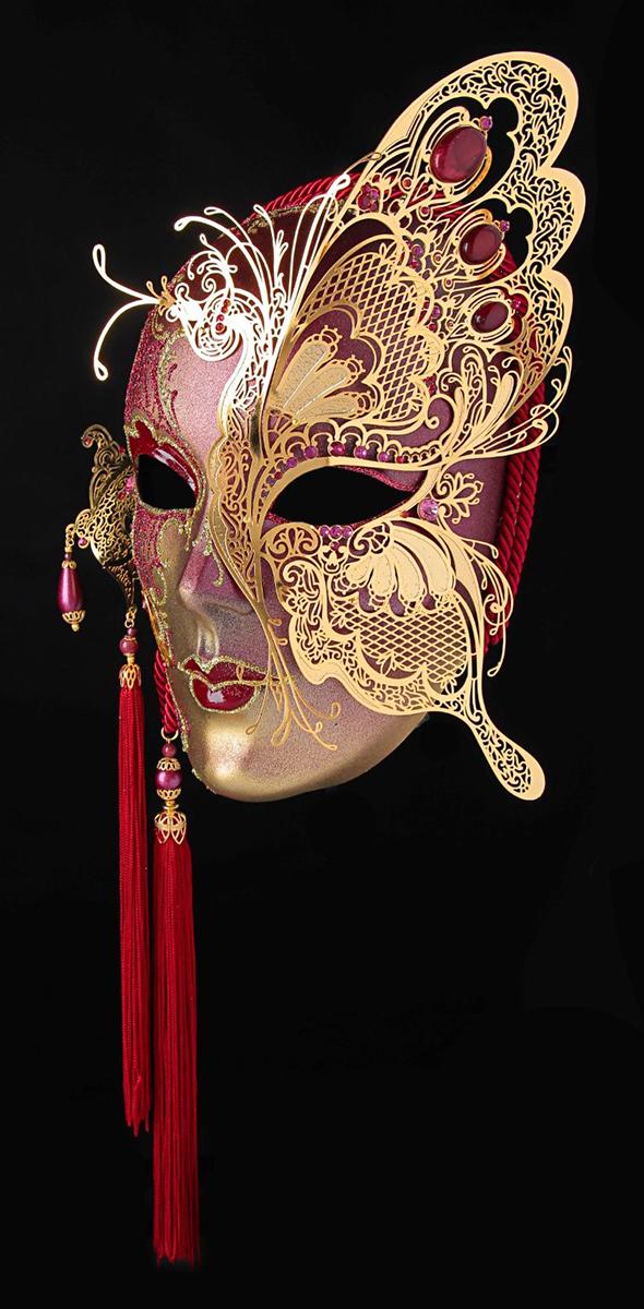 Маска карнавальная Bluemoon Venice  Volto Farbella , 10 ? 15 ? 23 см - Маски карнавальные
