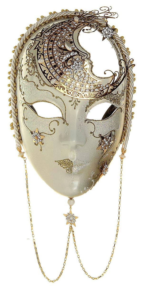 Маска карнавальная Bluemoon Venice  Volto Luna , 10 ? 15 ? 23 см -  Маски карнавальные