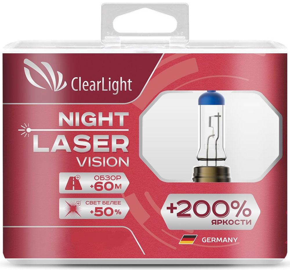 Лампа автомобильная галогенная Clearlight Night Laser Vision +200% Light, цоколь H4, 12V, 60/55W, 2 штMLH4NLV200Clearlight Night Laser Vision +200% Light самые яркие лампы из разрешенных для дорог общего пользования. В производстве ламп использованы лазерные технологии. Лучший срок эксплуатации в своем классе. Увеличенный обзор до 60 м. Свет белее на 50%.В комплектацию входит 2 лампы.
