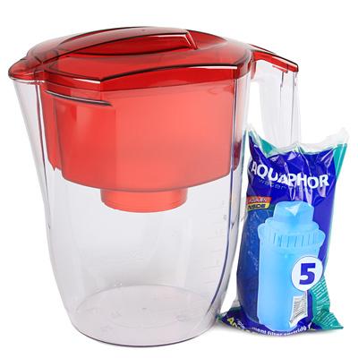 Фильтр-кувшин для воды Аквафор Гарри, цвет: красный, 3,9 лP42B05NФильтр для воды Аквафор Гарри, изготовленный из пищевого пластика, обеспечивает чистую воду премиум-класса. Фильтр удаляет из воды железо, хлор, тяжелые металлы, органические и хлорорганические соединения и пестициды. Волокно Aqualen гарантирует надежную защиту. DFS (Метод динамической фиксации серебра) позволяет использовать активное серебро в качестве бактерицида в соответствии с требованиями европейских стандартов. Технология IAM предотвращает возникновение канального эффекта и обеспечивает равномерное распределение потока воды по всему объему фильтра.Особенности:- Неизменно эффективен в любых условиях. Избирательность Aqualen к тяжелым металлам в 780 раз выше, чем к полезным минералам.- Надежно защитит в аварийной ситуации. Даже если концентрация вредных веществ в воде превысит предельно допустимую в 100 раз.- Эффективно удаляет тяжелые металлы. Сорбенты Aqualen поглощают больше ионов тяжелых металлов.- Содержит безопасное эффективное серебро.- Мгновенно и необратимо поглощает загрязнения. Технология IAM - скорость извлечения вредных веществ в 4 раза выше, чем у обычных фильтров.- Очищает каждую каплю. Очистка происходит намного эффективнее, чем в обычных фильтрах.В комплекте универсальный фильтрующий модуль с бактерицидной добавкой.