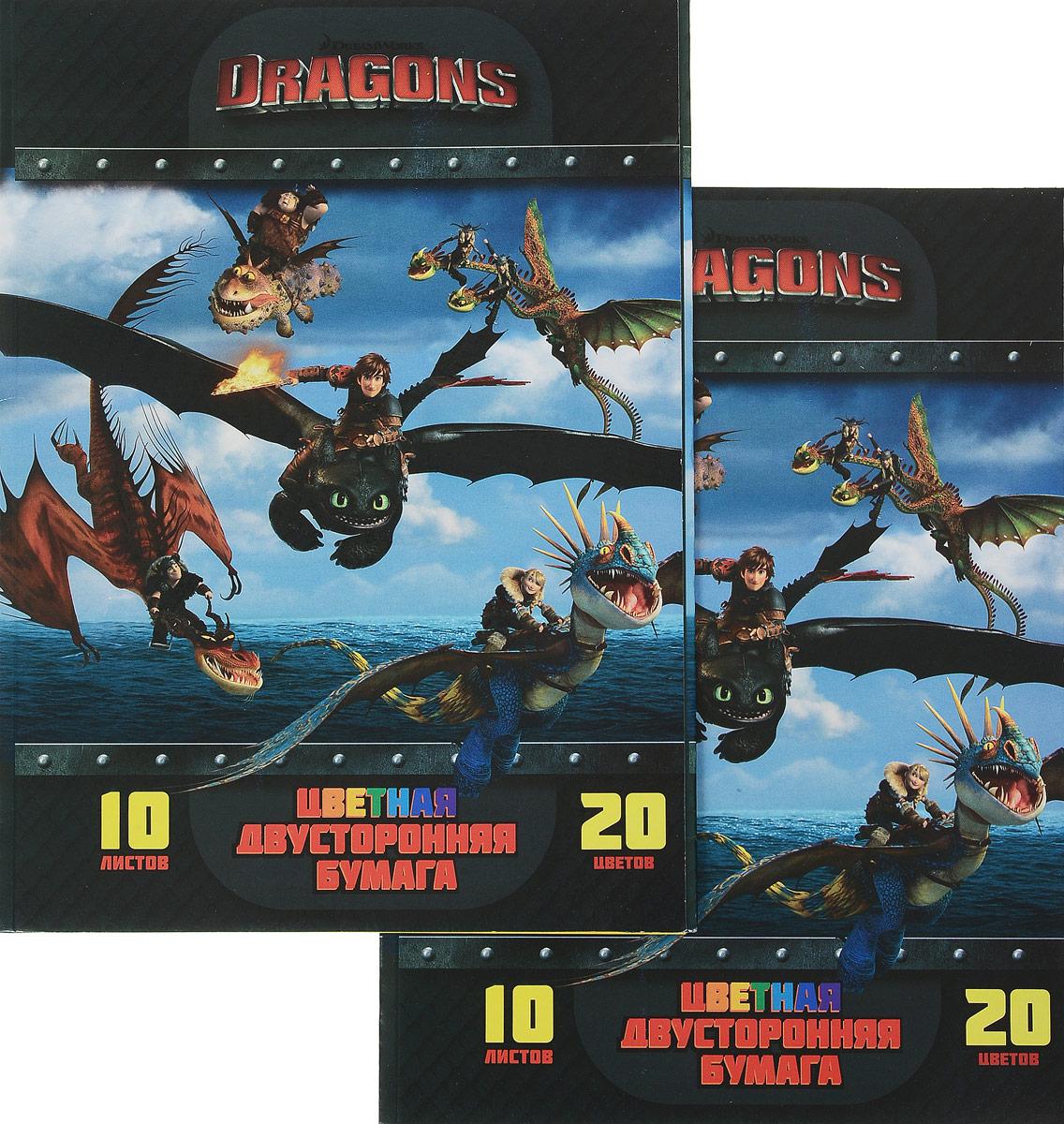 Набор цветной бумаги Dragons, двусторонняя, 20 цветов, 2 штDR-CPM-10/20Набор цветной бумаги Dragons идеально подойдет для занятий в детском саду, школе и дома. Двусторонняя цветная бумага с яркими красками обеспечит максимально удобный и увлекательный творческий процесс. Папка из мелованного картона с изображением героев мультфильма Как приручить дракона на обложке надежно защитит бумажные листы от повреждений. В набор входят цвета: желтый, ярко-желтый, красный, розовый, малиновый, оранжево-красный, голубой, синий,сиреневый, фиолетовый,темно-синий, темно-зеленый, черный, серый, оранжевый, темно-оранжевый, светло-зеленый, салатовый.В комплект входит два набора по 20 цветов.Формат листов А4.УВАЖАЕМЫЕ КЛИЕНТЫ!Обращаем ваше внимание на то, что товар может поступать в двух дизайнах!