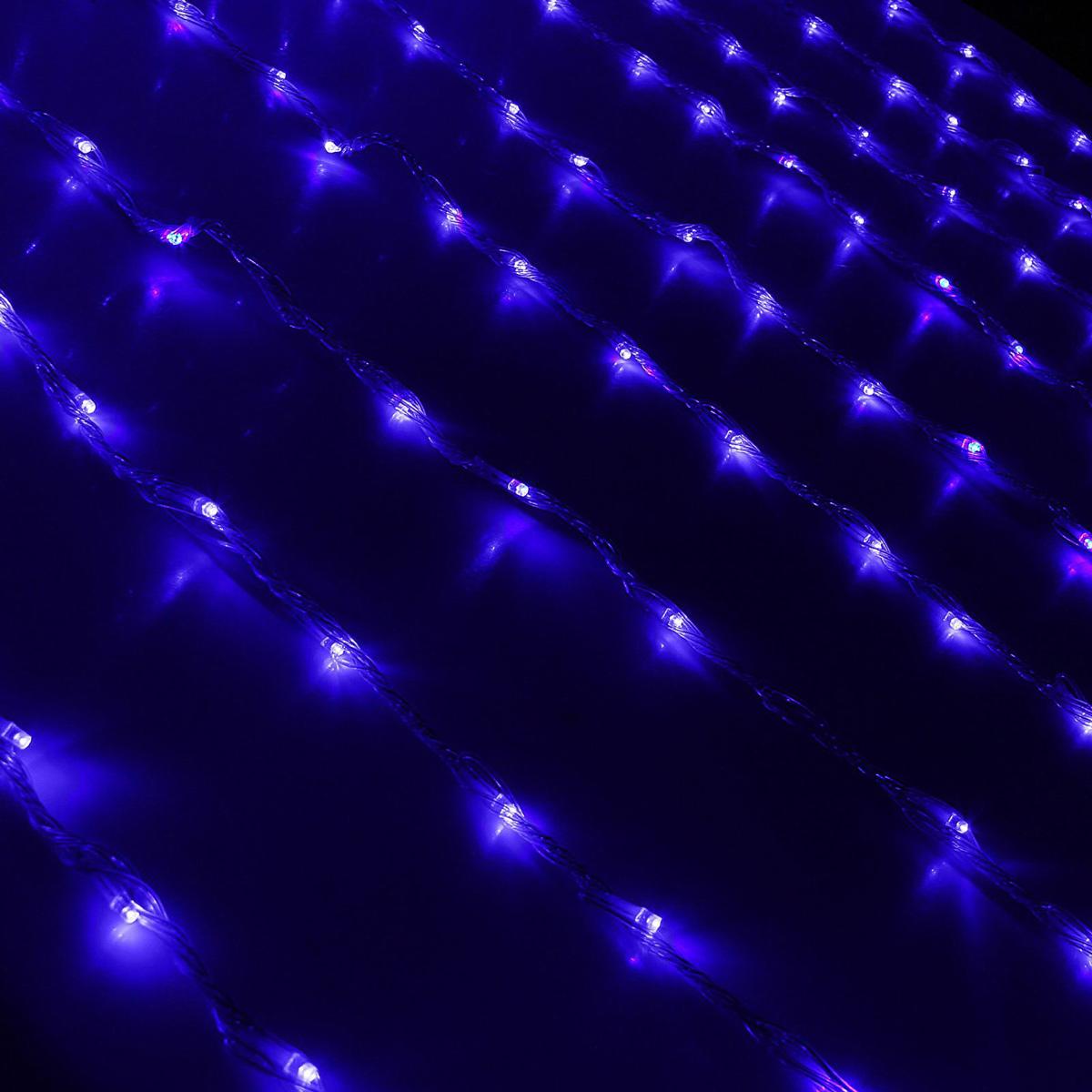 Гирлянда светодиодная Luazon Дождь, уличная, 8 режимов, 2000 ламп, 220 V, цвет: синий, 2 х 9 м. 10801911080191Светодиодные гирлянды, ленты и т.д — это отличный вариант для новогоднего оформления интерьера или фасада. С их помощью помещение любого размера можно превратить в праздничный зал, а внешние элементы зданий, украшенные ими, мгновенно станут напоминать очертания сказочного дворца. Такие украшения создают ауру предвкушения чуда. Деревья, фасады, витрины, окна и арки будто специально созданы, чтобы вы украсили их светящимися нитями.
