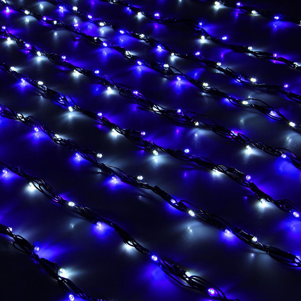 Гирлянда светодиодная Luazon Дождь, уличная, 8 режимов, 400 ламп, 220 V, цвет: белый, синий, 2 х 1,5 м. 10801861080186Светодиодные гирлянды, ленты и т.д — это отличный вариант для новогоднего оформления интерьера или фасада. С их помощью помещение любого размера можно превратить в праздничный зал, а внешние элементы зданий, украшенные ими, мгновенно станут напоминать очертания сказочного дворца. Такие украшения создают ауру предвкушения чуда. Деревья, фасады, витрины, окна и арки будто специально созданы, чтобы вы украсили их светящимися нитями.