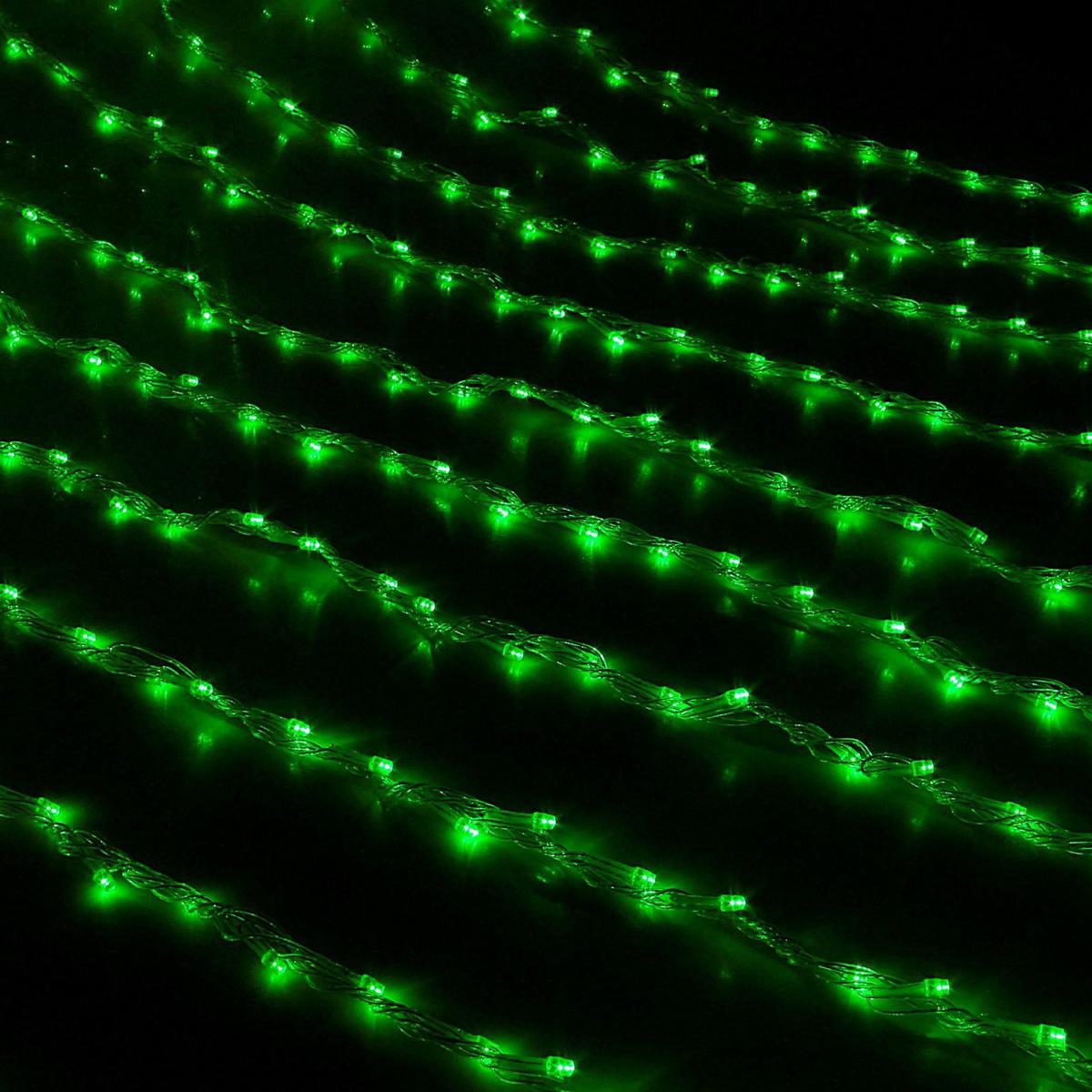 Гирлянда светодиодная Luazon Дождь, уличная, 8 режимов, 400 ламп, 220 V, цвет: зеленый, 2 х 1,5 м. 187290187290Светодиодные гирлянды, ленты и т.д — это отличный вариант для новогоднего оформления интерьера или фасада. С их помощью помещение любого размера можно превратить в праздничный зал, а внешние элементы зданий, украшенные ими, мгновенно станут напоминать очертания сказочного дворца. Такие украшения создают ауру предвкушения чуда. Деревья, фасады, витрины, окна и арки будто специально созданы, чтобы вы украсили их светящимися нитями.