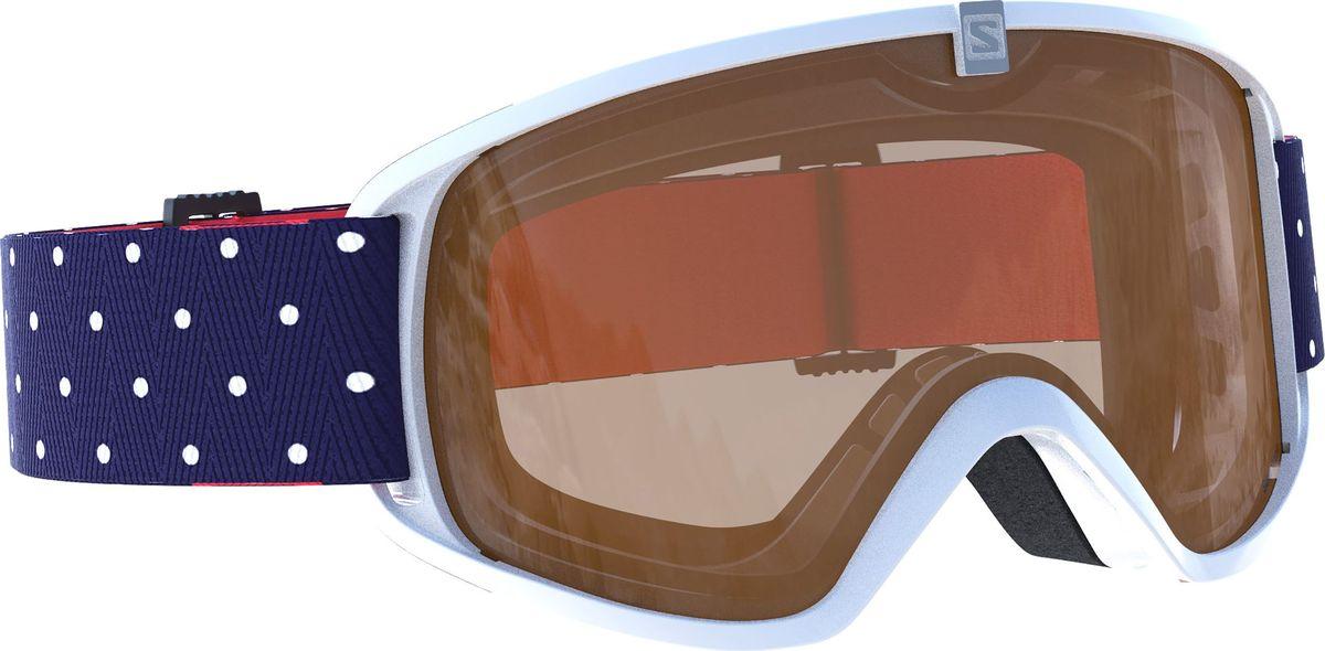 Маска горнолыжная Salomon Trigger Wh Polka/Loligh T.OraL39907100Качественная и удобная маска, совместимая со всеми детскими шлемами Salomon. Технологичная линза фильтрует 100% ультрафиолетового излучения и покрыта специальным материалом, предотвращающим возникновение царапин. Продуманная система вентиляции Airflow оптимальным образом распределяет потоки воздуха, оставляя внутреннюю часть линзы сухой, предотвращая запотевание, а сама форма маски с широким углом обзора сконструирована специально для небольших лиц юных райдеров.
