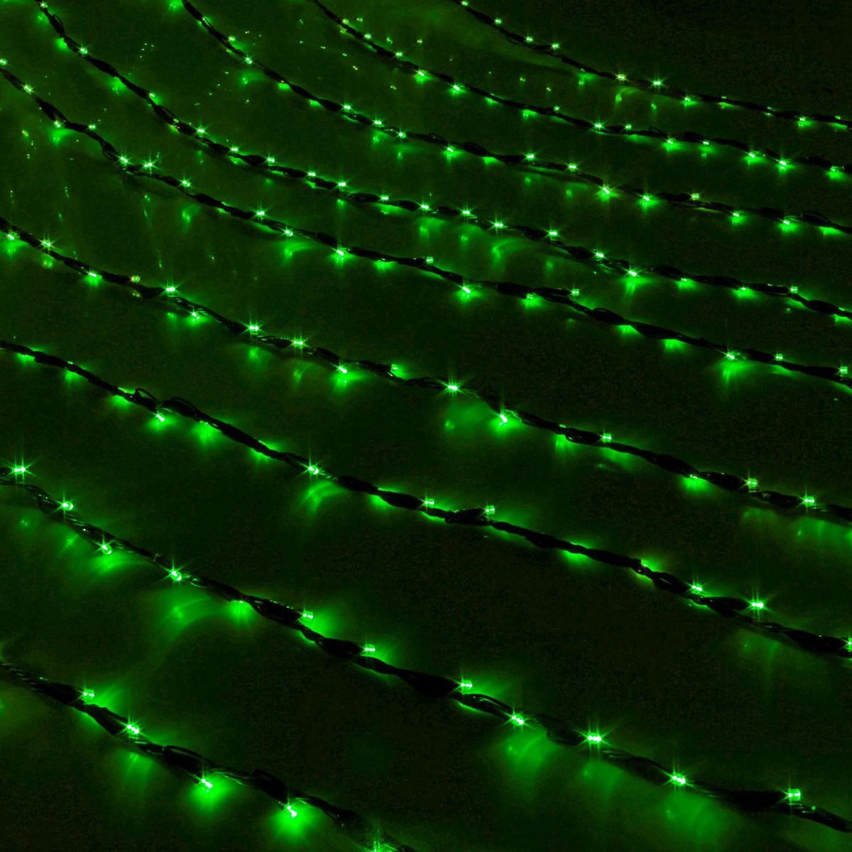 Гирлянда светодиодная Luazon Дождь, уличная, 8 режимов, 400 ламп, 220 V, цвет: зеленый, 2 х 1,5 м. 187294 гирлянда luazon дождь 2m 1 5m multicolor 671638