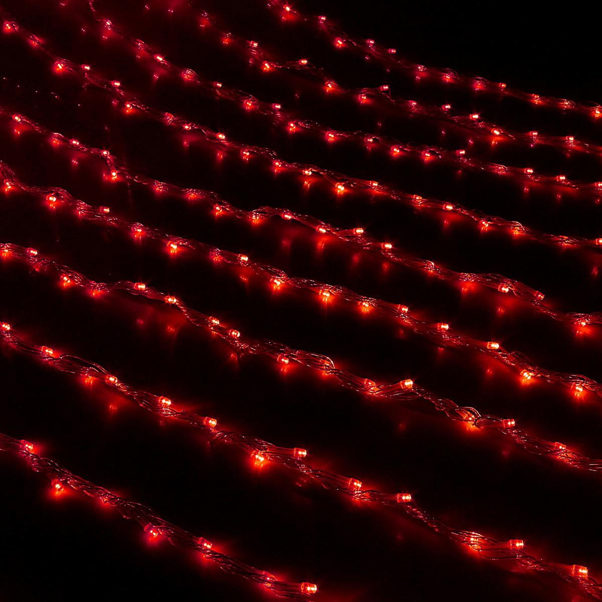 Гирлянда светодиодная Luazon Дождь, уличная, 8 режимов, 400 ламп, 220 V, цвет: красный, 2 х 1,5 м. 187292187292Светодиодные гирлянды, ленты и т.д — это отличный вариант для новогоднего оформления интерьера или фасада. С их помощью помещение любого размера можно превратить в праздничный зал, а внешние элементы зданий, украшенные ими, мгновенно станут напоминать очертания сказочного дворца. Такие украшения создают ауру предвкушения чуда. Деревья, фасады, витрины, окна и арки будто специально созданы, чтобы вы украсили их светящимися нитями.