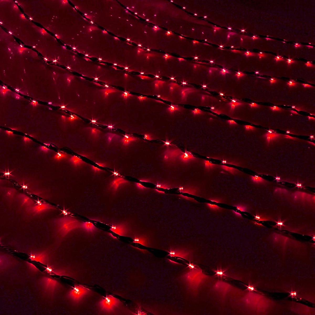 Гирлянда светодиодная Luazon Дождь, уличная, 8 режимов, 400 ламп, 220 V, цвет: красный, 2 х 1,5 м. 187296187296Светодиодные гирлянды, ленты и т.д — это отличный вариант для новогоднего оформления интерьера или фасада. С их помощью помещение любого размера можно превратить в праздничный зал, а внешние элементы зданий, украшенные ими, мгновенно станут напоминать очертания сказочного дворца. Такие украшения создают ауру предвкушения чуда. Деревья, фасады, витрины, окна и арки будто специально созданы, чтобы вы украсили их светящимися нитями.