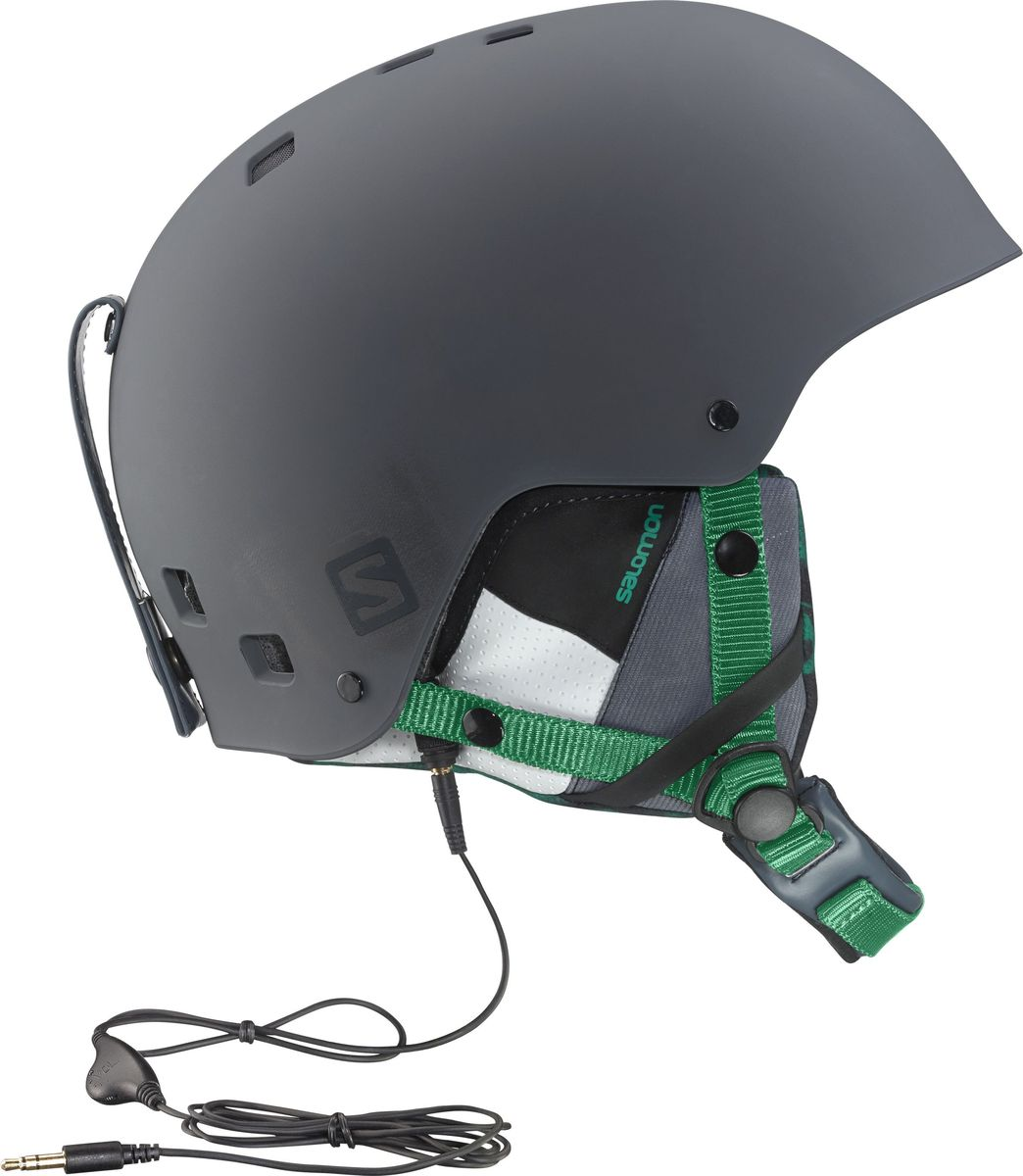 Шлем горнолыжный Salomon Helmet Brigade Audio Grey/Forest Gr. Размер L (58/59)