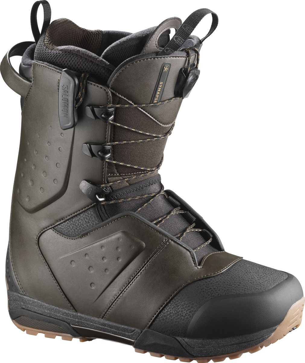 "Ботинки для сноуборда Salomon ""Synapse"", цвет: темно-зеленый. Размер 30,5 (46,5)"