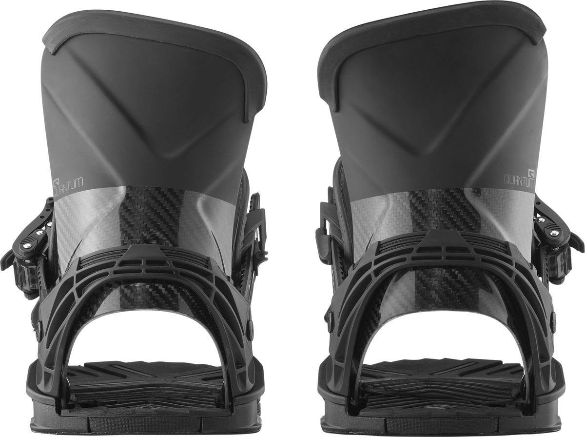 """Крепления для сноуборда Salomon """"Quantum"""" - топовые крепления, которые конкурируют абсолютно со всеми топовыми креплениями других брендов. Они - как опасная бритва в мире креплений, благодаря карбоновому хайбеку, который передает каждое движение вашей ноги сноуборду. Помимо этого, база из пены EVA, с технологией Airbed дает максимальнейший уровень комфорта при их немаленькой жесткости. Модель Quantum рекомендована всем продвинутым райдерам и людям со средним уровнем катания, которым будет в них достаточно комфортно.  Как выбрать сноуборд. Статья OZON Гид"""