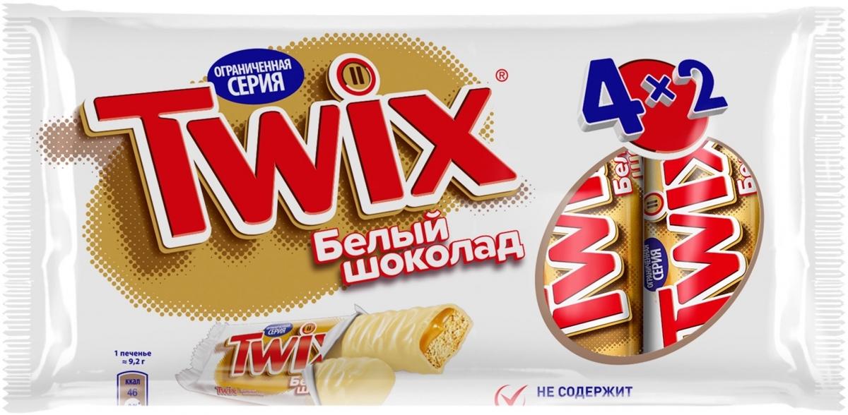 Twix Белый шоколад, мультипачка, 4 шт по 55 г0079015069Шоколадные батончики Twix Xtra - это еще больше хрустящего печенья, густой карамели и великолепного молочного шоколада. Чаепитие с Twix в компании коллег, друзей или родных - отличное способ провести свободное время. Сделай паузу - скушай Twix.