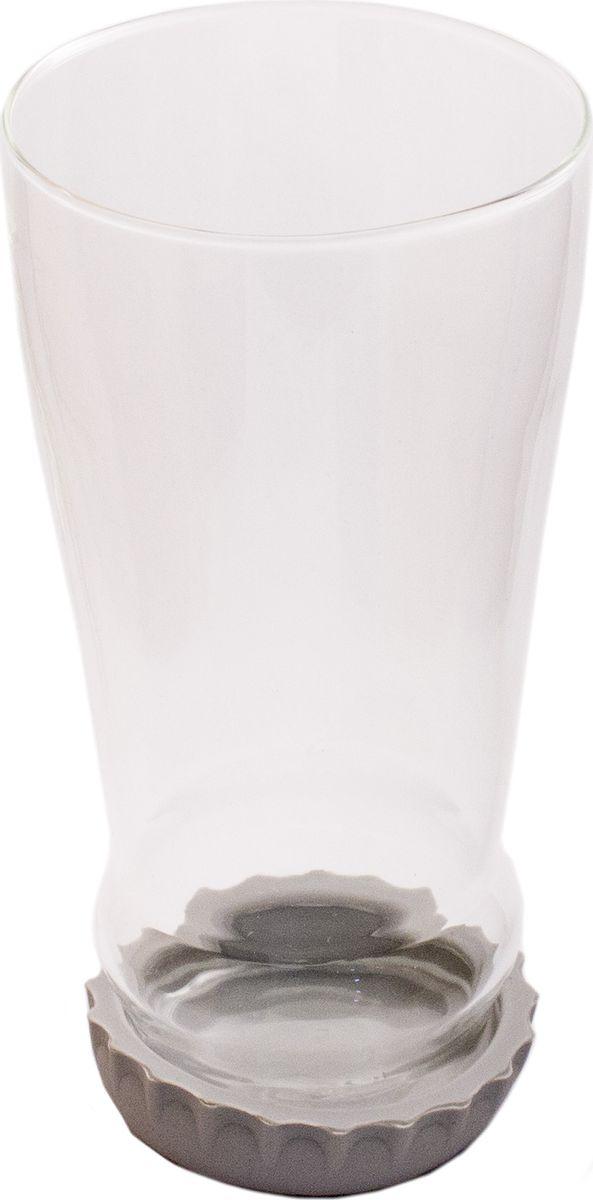 Бокал пивной Эврика Бутылка с крышкой. 9783197831Бокал необычной формы имитирует горлышко перевернутой пивной бутылки с крышкой. Крышка, изготовленная из прочного силикона, служит подставкой для стакана, предотвращающей скольжение и повреждение мебели. Материал: стекло, силикон. Размер: 165 х 85 х 80 мм.
