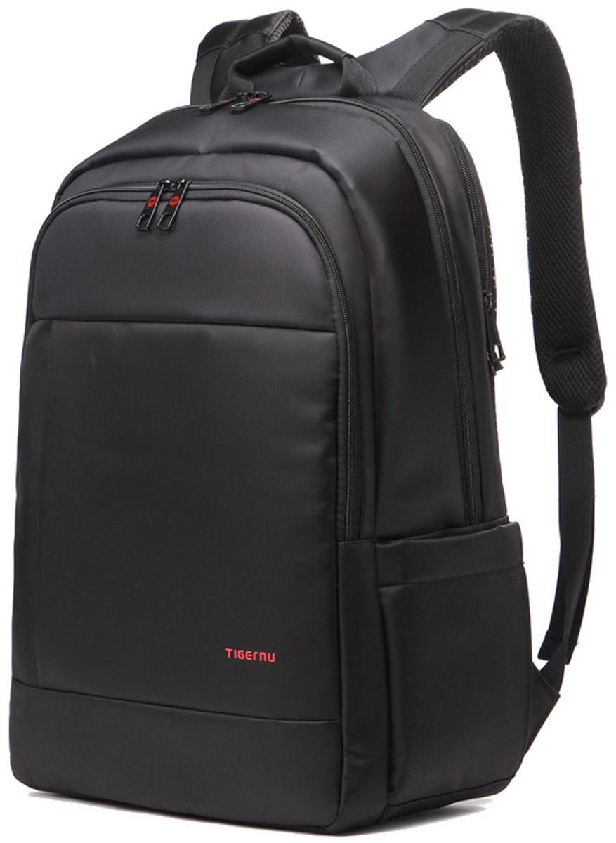 Tigernu T-B3142, Black рюкзак для ноутбука 17T-B3142Рюкзак Tigernu T-B3142 отлично подойдет для работы, учебы или путешествий. Сделан из высокопрочного, водоотталкивающего материала. Довольно легкий. Отделение для ноутбука и планшета со вставкой из защитной пены, которое защитит ваши устройства от царапин и других повреждений. На задней части вашего рюкзака находятся два кармана, где вы можете хранить свои документы и ценные вещи. S-образная конструкция спинки с воздухопроницаемой губкой обеспечивает идеальную мягкую посадку. Основное отделение с двойной молнией (защита от кражи).