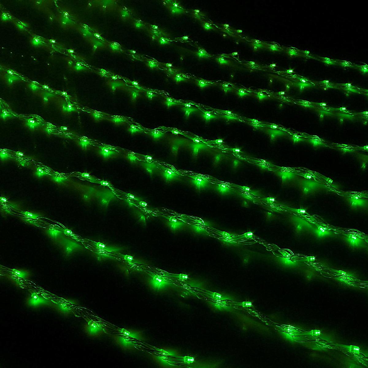 Гирлянда светодиодная Luazon Дождь, уличная, 8 режимов, 800 ламп, 220 V, цвет: зеленый, 2 х 3 м. 187298187298Светодиодные гирлянды, ленты и т.д — это отличный вариант для новогоднего оформления интерьера или фасада. С их помощью помещение любого размера можно превратить в праздничный зал, а внешние элементы зданий, украшенные ими, мгновенно станут напоминать очертания сказочного дворца. Такие украшения создают ауру предвкушения чуда. Деревья, фасады, витрины, окна и арки будто специально созданы, чтобы вы украсили их светящимися нитями.