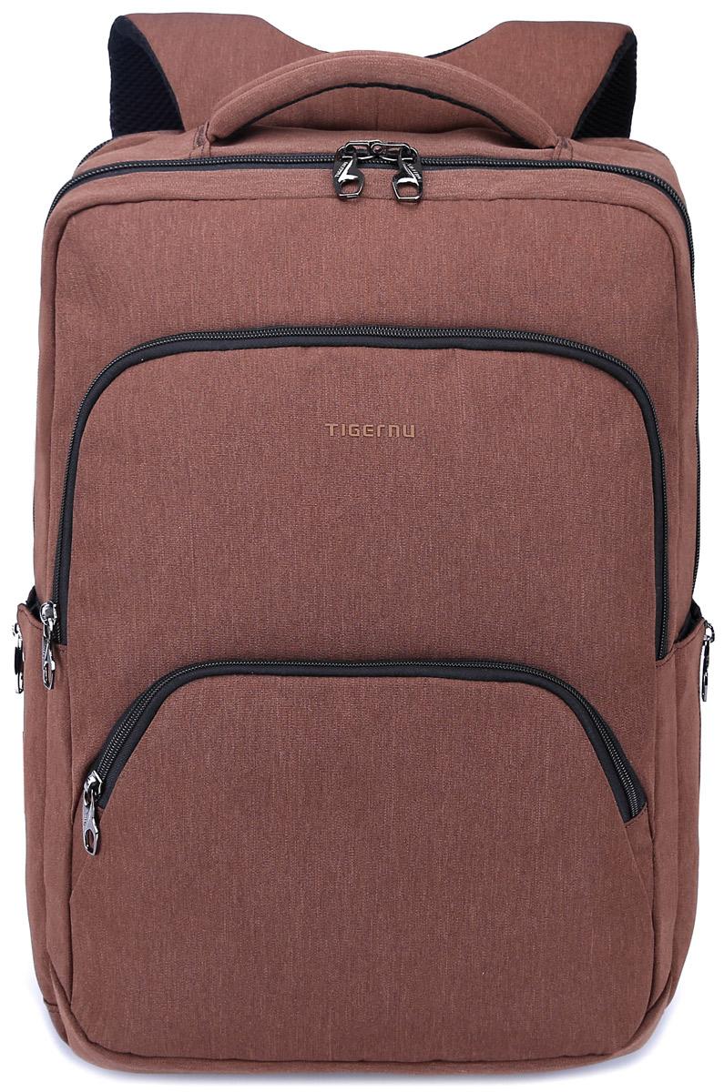 Tigernu T-B3189, Brown рюкзак для ноутбука 17T-B3189Рюкзак Tigernu T-B3189 отлично подойдет для работы, учебы или путешествий. Сделан из высокопрочного, водоотталкивающего материала. Довольно легкий. Отделение для ноутбука и планшета со вставкой из защитной пены, которое защитит ваши устройства от царапин и других повреждений. S-образная конструкция спинки с воздухопроницаемой губкой обеспечивает идеальную мягкую посадку. Основное отделение с двойной молнией (защита от кражи).