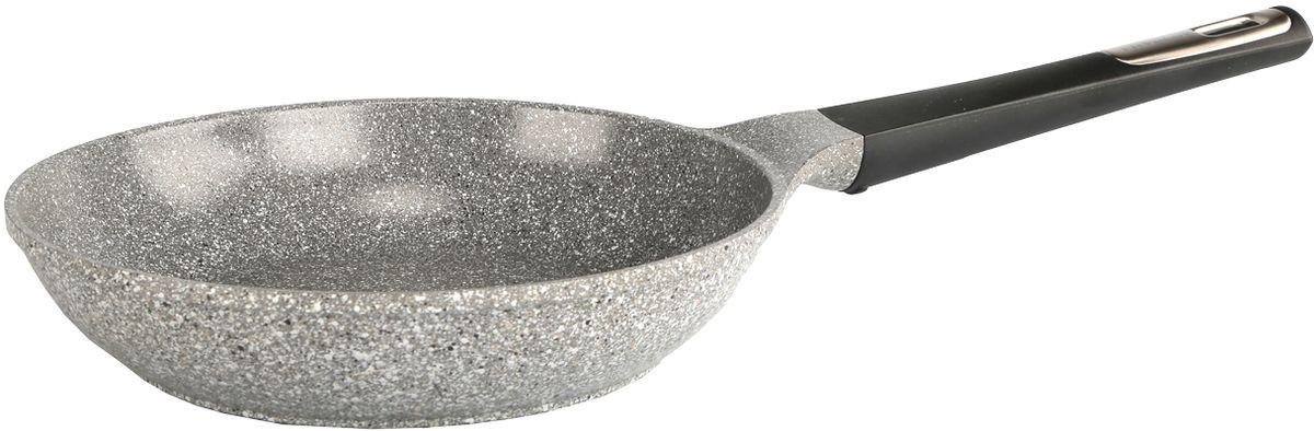 Сковорода Frybest  Ozen , с керамическим антипригарным покрытием, цвет: светло-серый. Диаметр 28 см - Посуда для приготовления