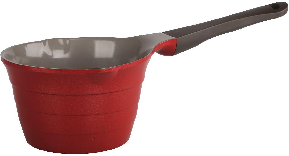 Ковш Frybest Bordo, с керамическим антипригарным покрытием, цвет: бордовый, 1,6 л