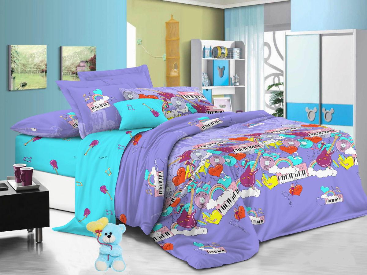 Cleo Комплект детского постельного белья Мелодия 1,5 спальный цвет сиреневый -  Детский текстиль