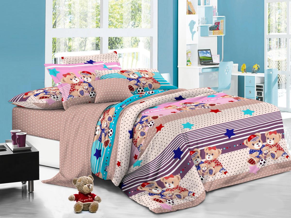 Cleo Комплект детского постельного белья Друзья 1,5 спальный цвет светло-коричневый -  Детский текстиль