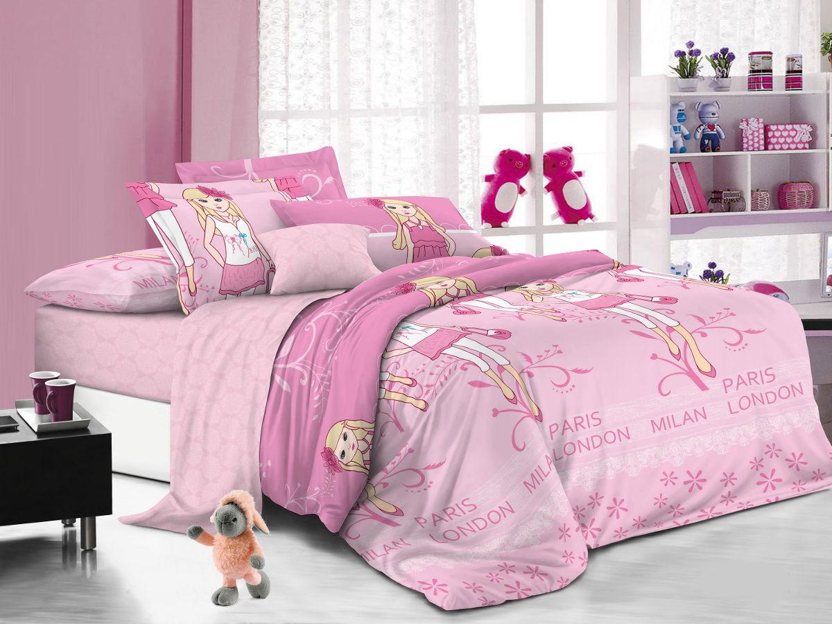 Cleo Комплект детского постельного белья Модницы 1,5 спальный цвет розовый53/019-PDКоллекция Cleo для детей от 3 лет создана с любовью и заботой. Мы старались разнообразить коллекцию красочной цветовой гаммой, учитывая любовь к волшебным персонажам, как мальчиков, так и девочек, ваши детки не будут расставаться со сказкой даже во сне! Благодаря пигментному способу нанесение печати, даже после многократных стирок (деликатный режим), постельное белье сохраняет свой первоначальный вид. Постельное белье выполнено из натуральных тканей из 100% Хлопка. Поплин – 100% Хлопок, благодаря специальному плетению, ткань приобретает репсовый эффект и всеми свойствами хлопка: не вызывает аллергию, хорошо пропускает воздух, легко стирается и гладится, прочен, выдерживает много стирок, плюс ко сему, он очень долговечен, износоустойчив и при этом очень мягкий.