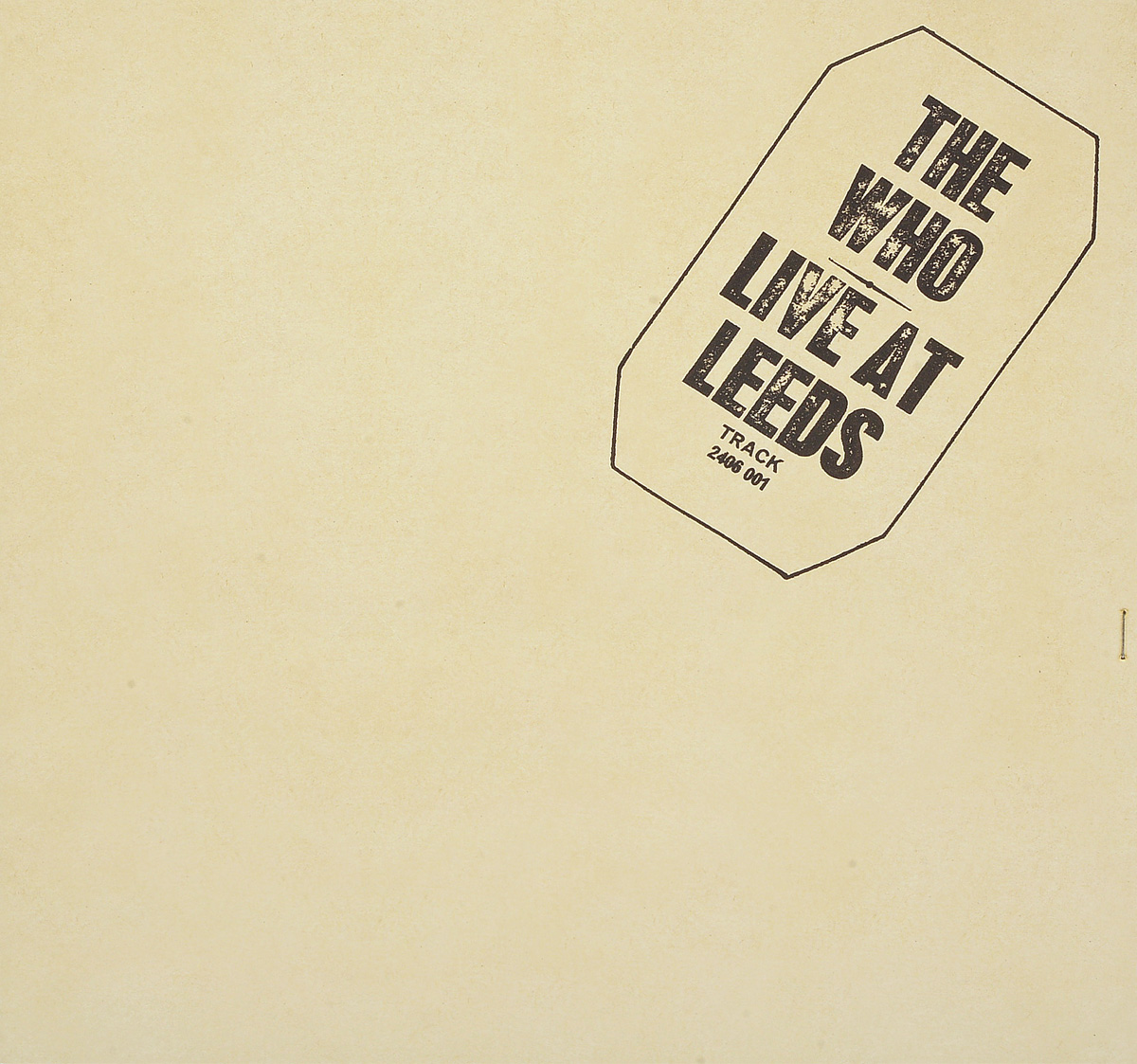 The Who The Who. Live At Leeds (LP) the who the who tommy live at the royal albert hall 3 lp