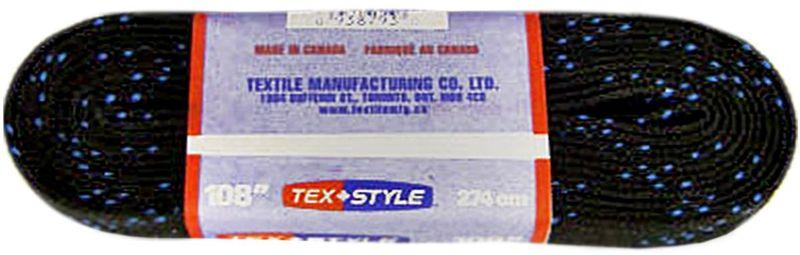 Шнурки для коньков Tex Style, с пропиткой, цвет: черный, 2,74 м, 2 штУТ-00007780Шнурки для коньков Tex Style с пропиткой - это шнурки уникальной разработки , они гарантируют правильное количество воска в структуре шнурка, которое предотвращает их шелушение и развязывание.Основные характеристики:Назначение: для фигурных и хоккейных коньков;Материал: 100% хлопок.