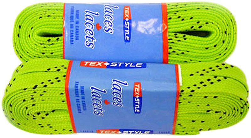 Шнурки для коньков Tex Style, с пропиткой, цвет: лайм, 2,44 м, 2 штУТ-00007782Шнурки для коньков Tex Style с пропиткой - это шнурки уникальной разработки, они гарантируют правильное количество воска в структуре шнурка, которое предотвращает их шелушение и развязывание.Основные характеристики:Назначение: для фигурных и хоккейных коньков;Материал: 100% хлопок.