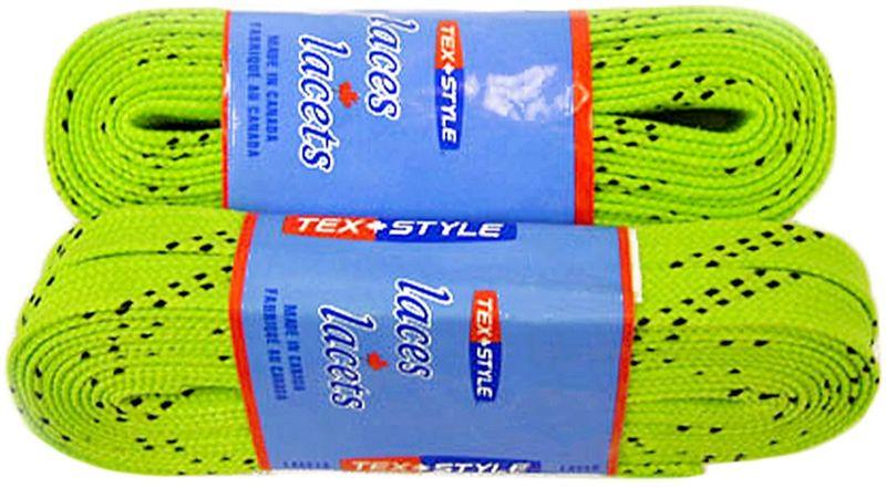 Шнурки для коньков Tex Style, с пропиткой, цвет: лайм, 2,74 м, 2 штУТ-00007783Шнурки для коньков Tex Style с пропиткой - это шнурки уникальной разработки, они гарантируют правильное количество воска в структуре шнурка, которое предотвращает их шелушение и развязывание.Назначение: для фигурных и хоккейных коньков.Материал: 100% хлопок.