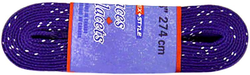 Шнурки для коньков Tex Style, с пропиткой, цвет: фиолетовый, 2,74 м, 2 штУТ-00007786Шнурки для коньков Tex Style с пропиткой - это шнурки уникальной разработки, они гарантируют правильное количество воска в структуре шнурка, которое предотвращает их шелушение и развязывание.Назначение: для фигурных и хоккейных коньков.Материал: 100% хлопок.