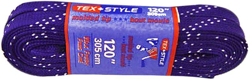 Шнурки для коньков Tex Style, с пропиткой, цвет: фиолетовый, 3,05 м, 2 штУТ-00007787Шнурки для коньков Tex Style с пропиткой - это шнурки уникальной разработки , они гарантируют правильное количество воска в структуре шнурка, которое предотвращает их шелушение и развязывание.Основные характеристики:Назначение: для фигурных и хоккейных коньков;Материал: 100% хлопок.