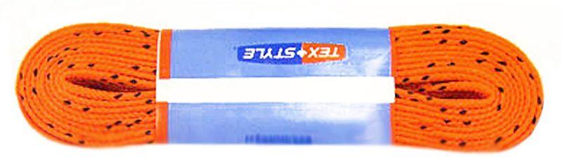 Шнурки для коньков Tex Style, с пропиткой, цвет: оранжевый, 2,74 м, 2 штУТ-00007794Шнурки для коньков Tex Style с пропиткой - это шнурки уникальной разработки, они гарантируют правильное количество воска в структуре шнурка, которое предотвращает их шелушение и развязывание.Назначение: для фигурных и хоккейных коньков.Материал: 100% хлопок.