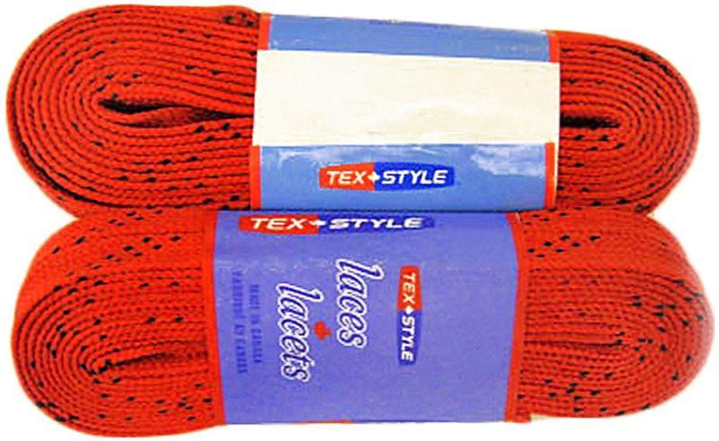 Шнурки для коньков Tex Style, с пропиткой, цвет: красный, 2,44 м, 2 штУТ-00007796Шнурки для коньков Tex Style с пропиткой - это шнурки уникальной разработки, они гарантируют правильное количество воска в структуре шнурка, которое предотвращает их шелушение и развязывание.Назначение: для фигурных и хоккейных коньков.Материал: 100% хлопок.