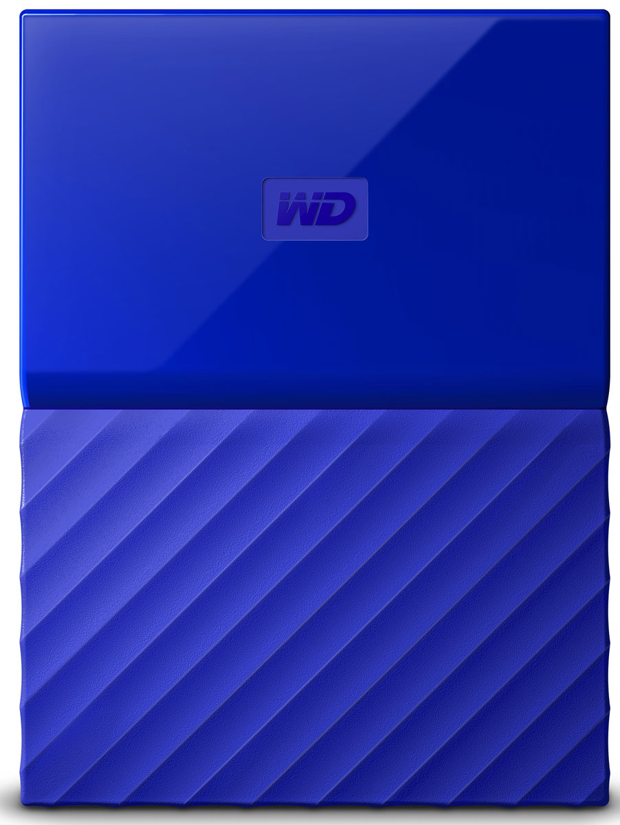 WD My Passport 1TB, Blue внешний жесткий диск (WDBBEX0010BBL-EEUE) - Носители информации