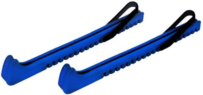 Чехол на лезвия коньков Ice Blade, цвет: синий, 2 штУТ-00003074Чехол для лезвия коньков подходит к любому размеру фигурных и большинству хоккейных коньков. Имеет эластичную резинку, надежно закрепляющую чехол на лезвии конька, и носик специальной геометрической формы, идеально подходящий для лезвия хоккейного конька.Модифицированный полиэтилен низкого давления (ПНД)- это материал, который обеспечивает оптимальную эластичность чехла при низких температурах. Теперь Вы будете без труда легко и быстро надевать чехол на лезвие конька. Чехлы снабжены парой прочных резинок.Основные характеристики:Назначение: защитные чехлы для лезвий;Механизм крепления: эластичная резинка;Материал: модифицированный полиэтилен низкого давления (ПНД).