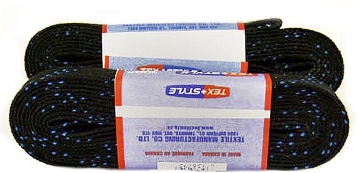 Шнурки для коньков Tex Style, с пропиткой, цвет: черный, 3,05 м, 2 штУТ-00007781Шнурки для коньков Tex Style с пропиткой - это шнурки уникальной разработки, они гарантируют правильное количество воска в структуре шнурка, которое предотвращает их шелушение и развязывание.Основные характеристики:Назначение: для фигурных и хоккейных коньков;Материал: 100% хлопок.