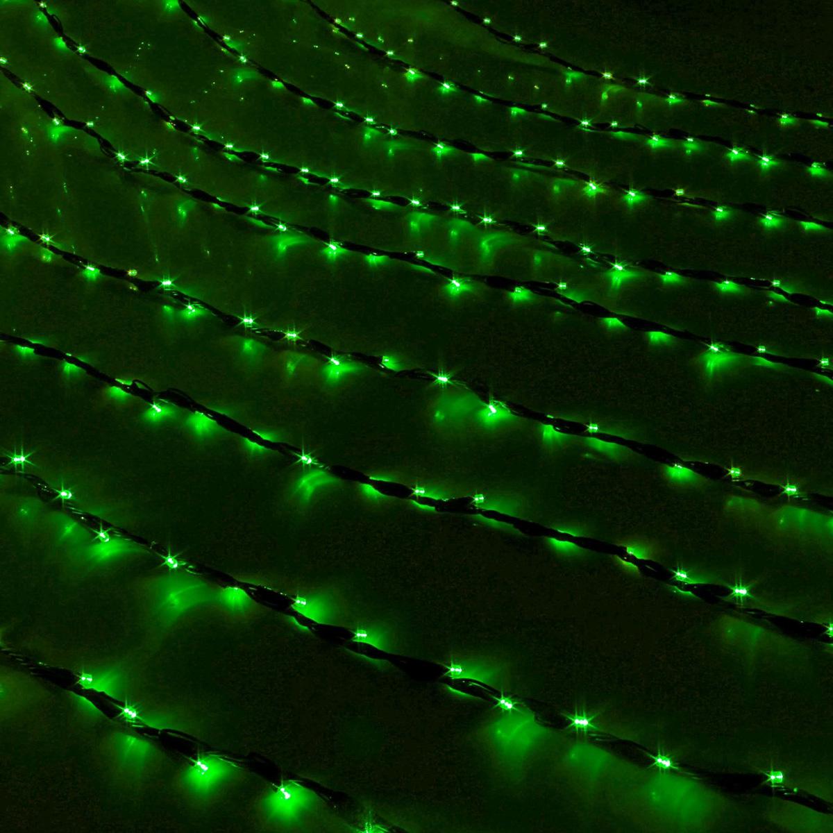 Гирлянда светодиодная Luazon Дождь, уличная, 800 ламп, 220 V, цвет: зеленый, 2 х 3 м. 187325187325Светодиодные гирлянды, ленты и т.д — это отличный вариант для новогоднего оформления интерьера или фасада. С их помощью помещение любого размера можно превратить в праздничный зал, а внешние элементы зданий, украшенные ими, мгновенно станут напоминать очертания сказочного дворца. Такие украшения создают ауру предвкушения чуда. Деревья, фасады, витрины, окна и арки будто специально созданы, чтобы вы украсили их светящимися нитями.
