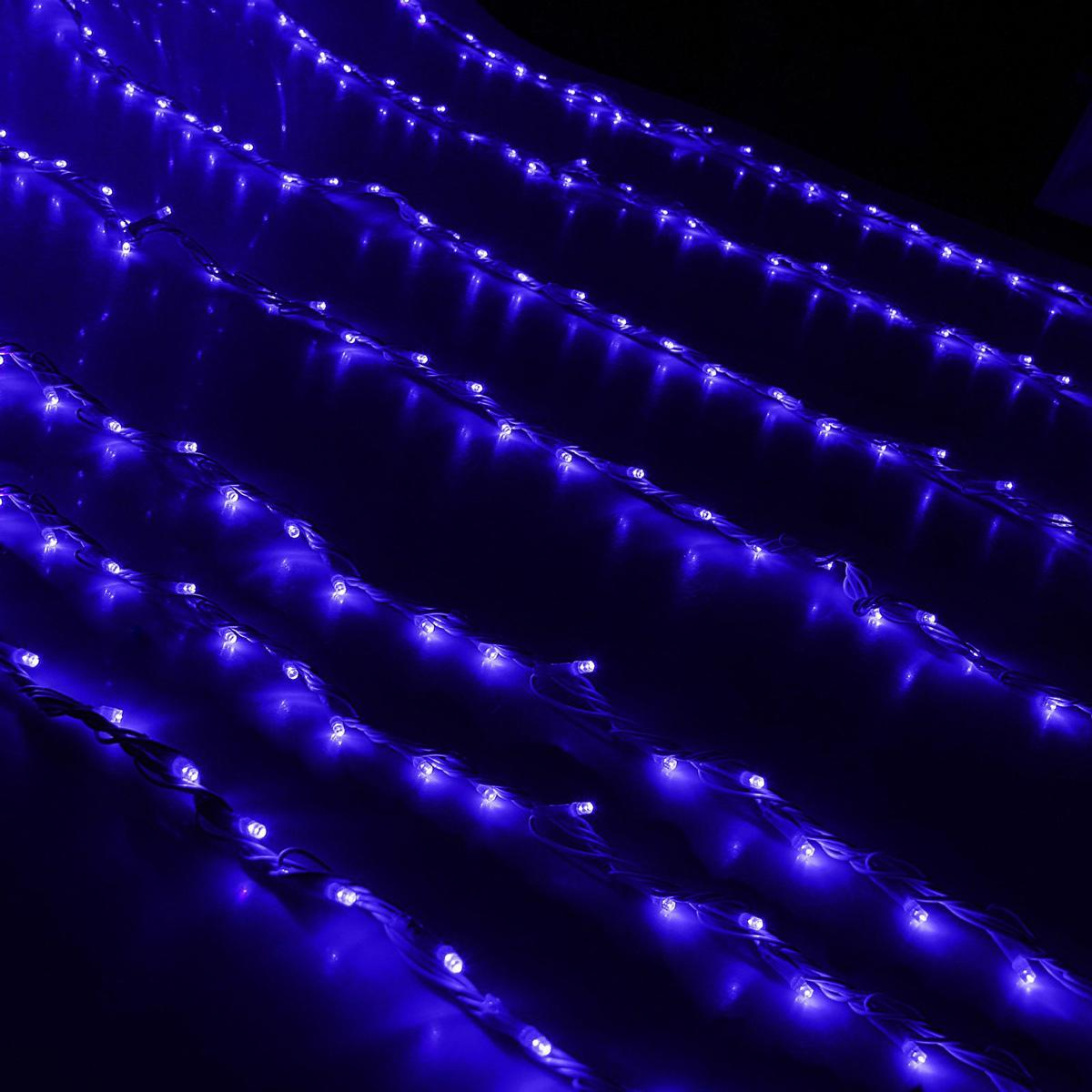 Гирлянда светодиодная Luazon Дождь, уличная, 800 ламп, 220 V, цвет: синий, 2 х 3 м. 10801991080199Светодиодные гирлянды, ленты и т.д — это отличный вариант для новогоднего оформления интерьера или фасада. С их помощью помещение любого размера можно превратить в праздничный зал, а внешние элементы зданий, украшенные ими, мгновенно станут напоминать очертания сказочного дворца. Такие украшения создают ауру предвкушения чуда. Деревья, фасады, витрины, окна и арки будто специально созданы, чтобы вы украсили их светящимися нитями.
