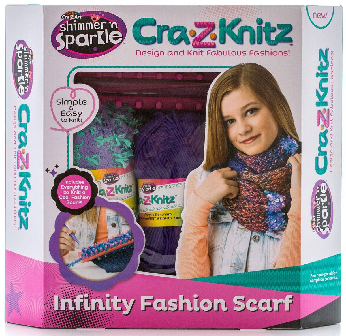 Cra-Z-Knitz Набор для вязания Шарф-хомут 17435A