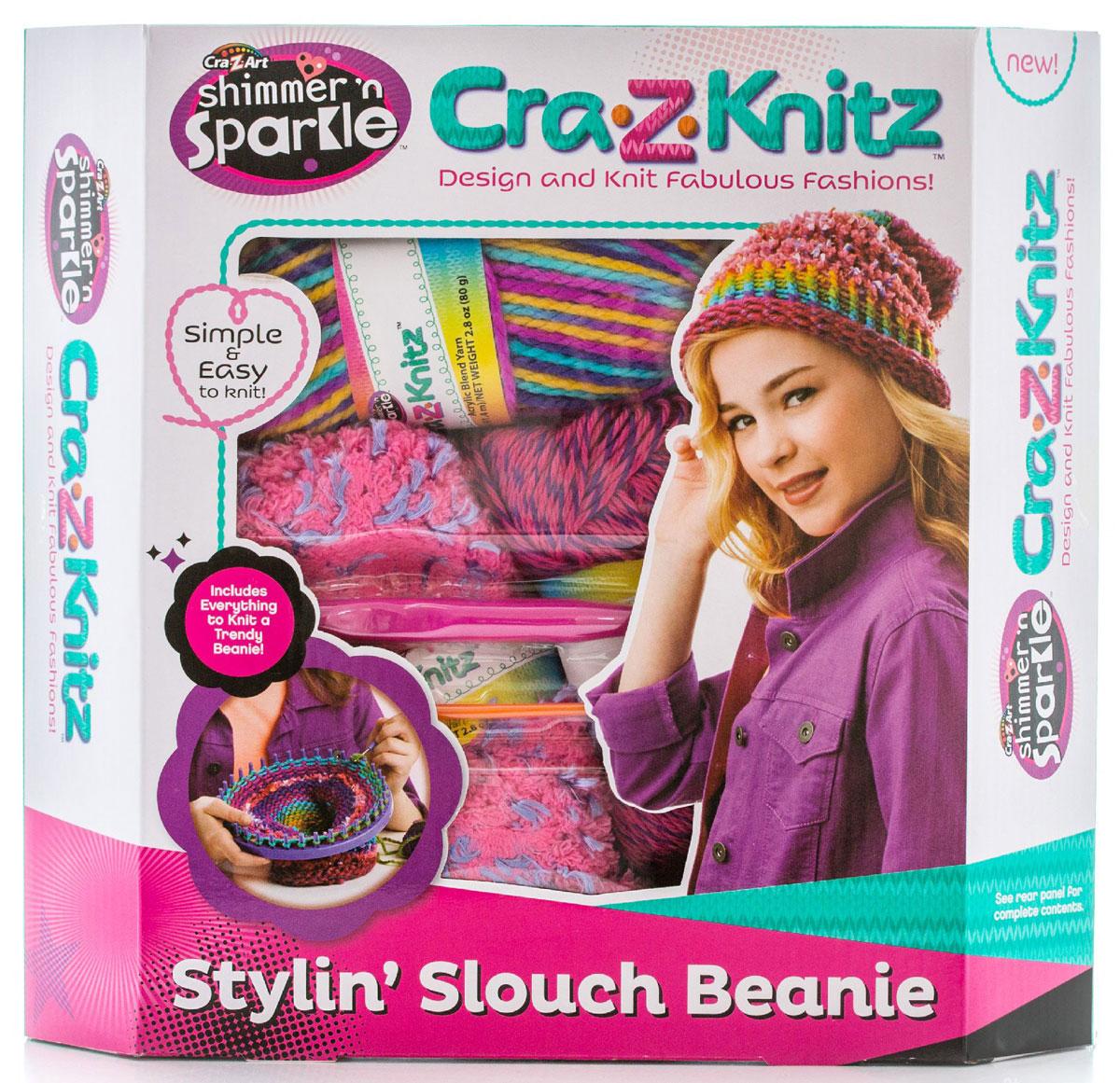Cra-Z-Knitz Набор для вязания Стильная Шапка-колпак 17436A