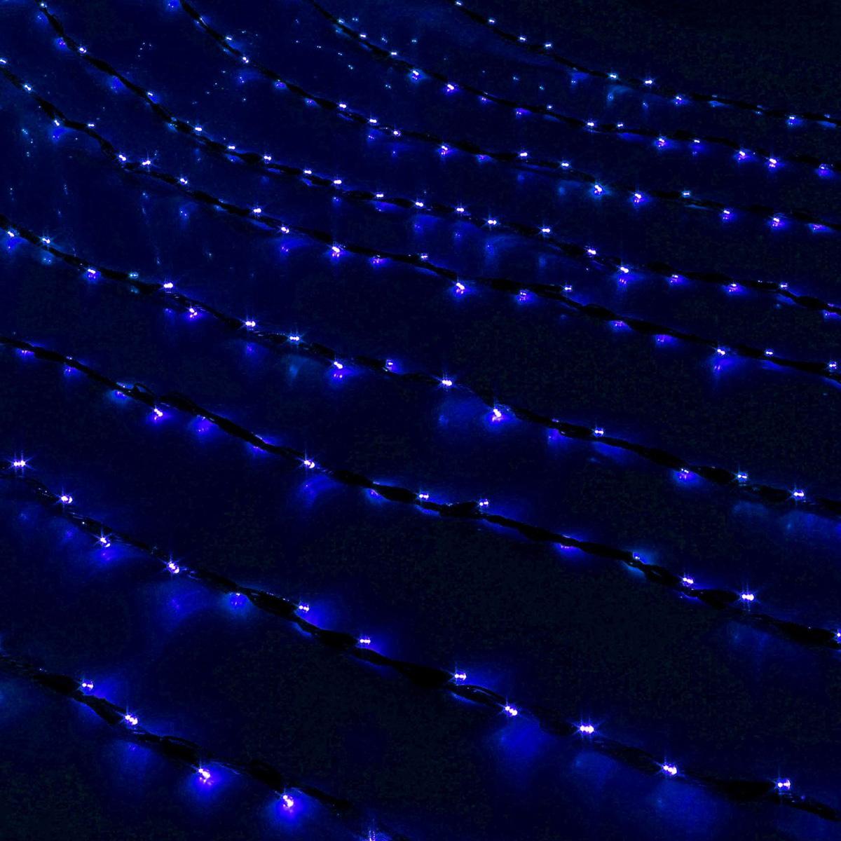 Гирлянда светодиодная Luazon Дождь, уличная, 800 ламп, 220 V, цвет: синий, 2 х 3 м. 187324187324Светодиодные гирлянды, ленты и т.д — это отличный вариант для новогоднего оформления интерьера или фасада. С их помощью помещение любого размера можно превратить в праздничный зал, а внешние элементы зданий, украшенные ими, мгновенно станут напоминать очертания сказочного дворца. Такие украшения создают ауру предвкушения чуда. Деревья, фасады, витрины, окна и арки будто специально созданы, чтобы вы украсили их светящимися нитями.