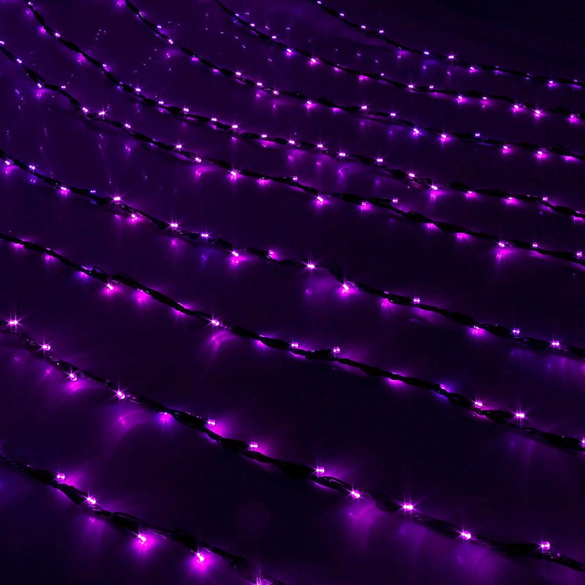 Гирлянда светодиодная Luazon Дождь, уличная, 800 ламп, 220 V, цвет: фиолетовый, 2 х 3 м. 187328187328Светодиодные гирлянды, ленты и т.д — это отличный вариант для новогоднего оформления интерьера или фасада. С их помощью помещение любого размера можно превратить в праздничный зал, а внешние элементы зданий, украшенные ими, мгновенно станут напоминать очертания сказочного дворца. Такие украшения создают ауру предвкушения чуда. Деревья, фасады, витрины, окна и арки будто специально созданы, чтобы вы украсили их светящимися нитями.